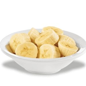 Fresh Organic Banana Slices