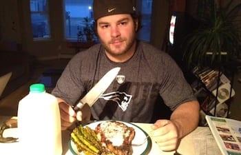 Jared Enderton Eating Dinner