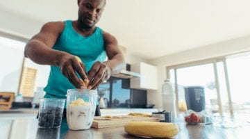Man Preparing Muscle Recovery Foods