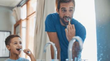 Teeth Are Making You Sick - Father Son Brushing Teeth